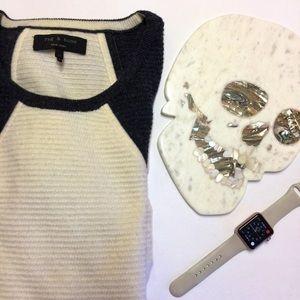 Rag & Bone Wool Colorblock Two Tone Crew Sweater